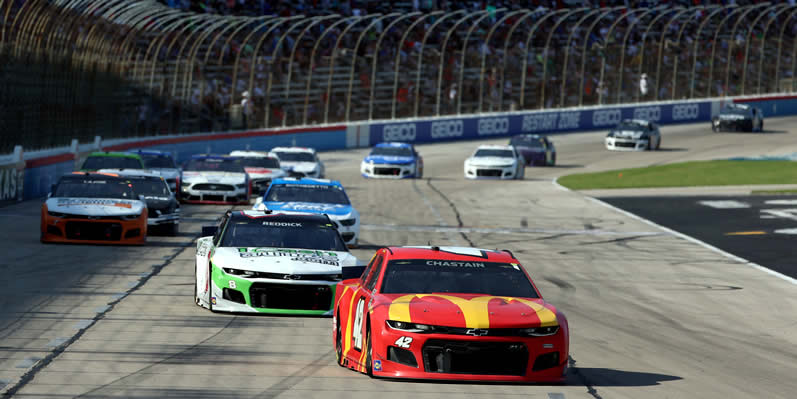 Ross Chastain leads the field