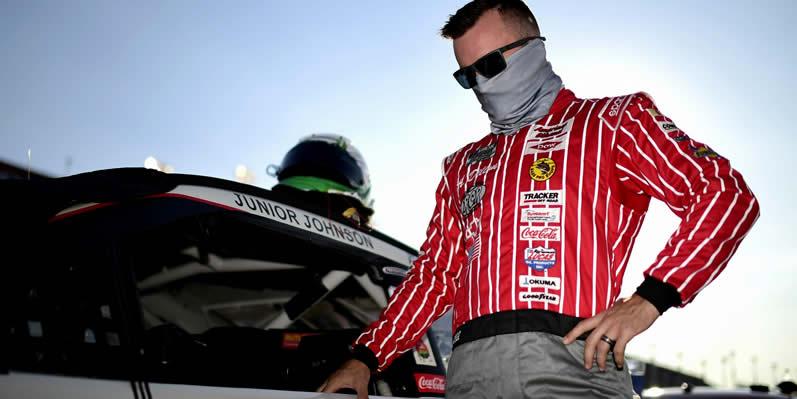 Austin Dillon waits on the grid