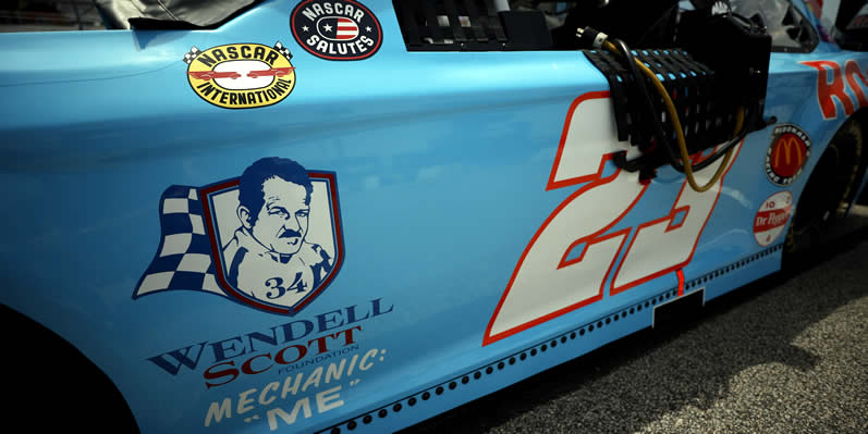 decal in support of the Wendell Scott Foundation