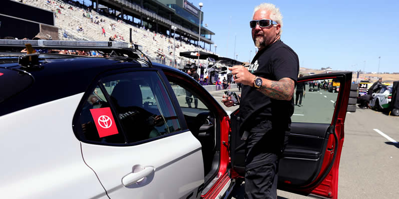 Honorary pace car driver Guy Fieri