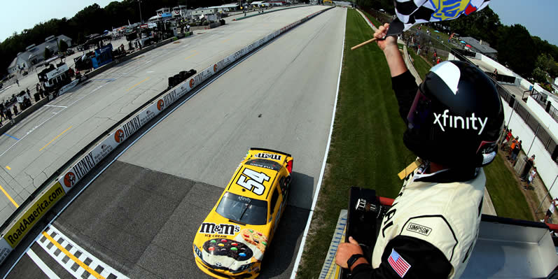 Kyle Busch takes the checkered flag at Road America