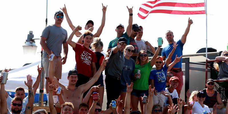 Fans watch the action at Watkins Glen International