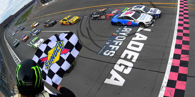 Ryan Blaney takes the checkered flag