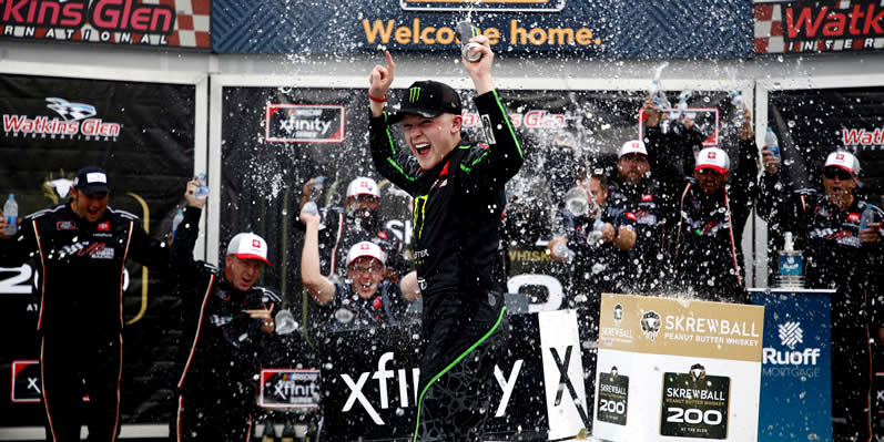 Ty Gibbs celebrates in Victory Lane