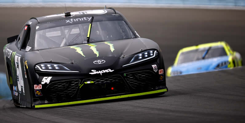 Ty Gibbs driver of the #54 Monster Energy Toyota