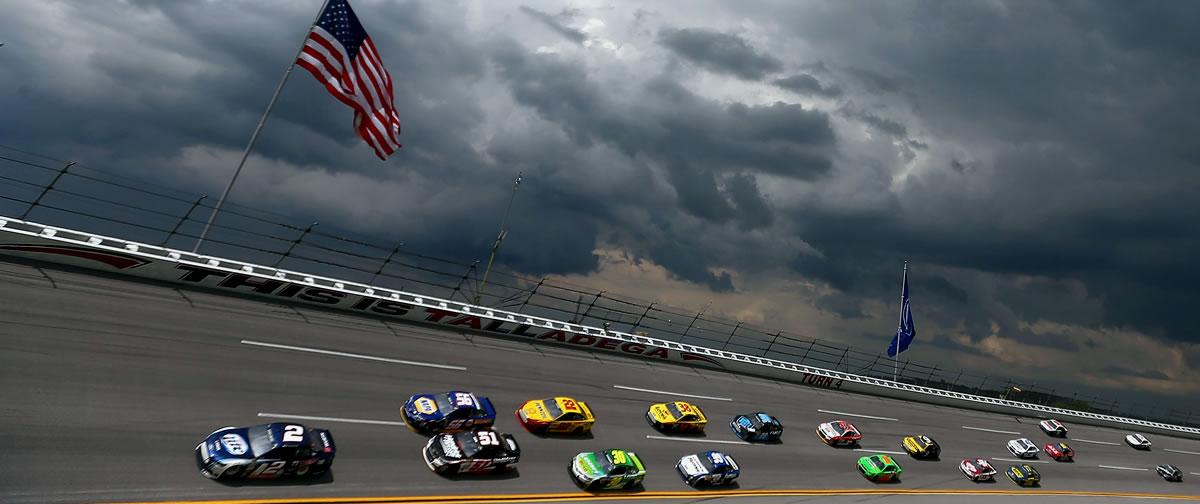 NASCAR Sprint Cup Series Talladega Aarons 499 Rain Delay