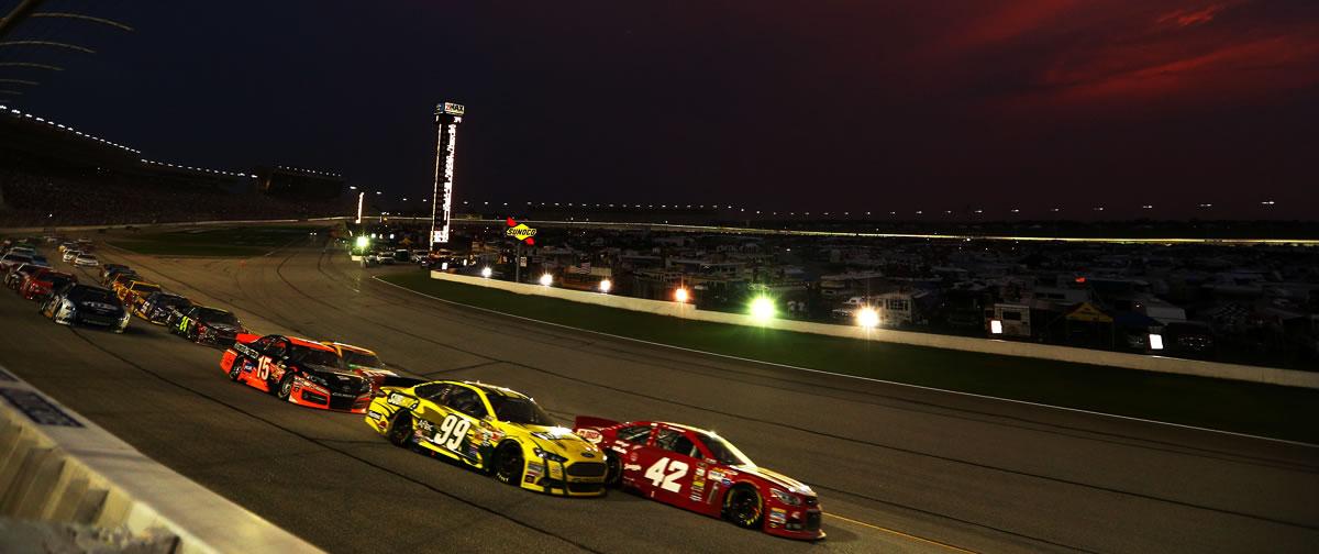 NASCAR Sprint Cup race at Atlanta Juan Pablo Montoya and Carl Edwards