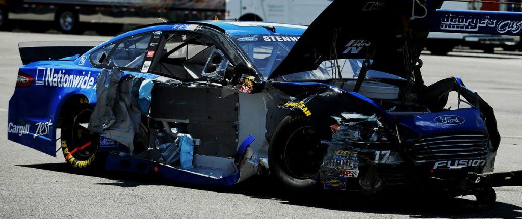 Ricky Stenhouse Jr wrecked NASCAR Dover