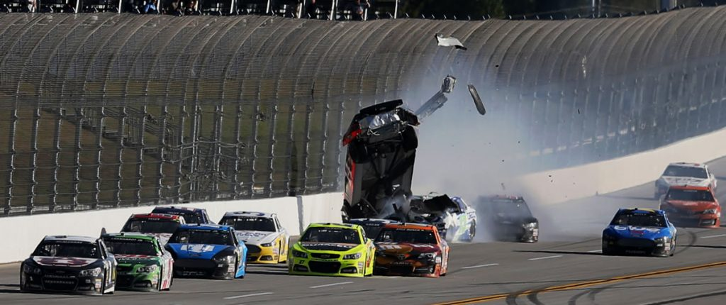 nascar sprint cup race talladega stewart crash