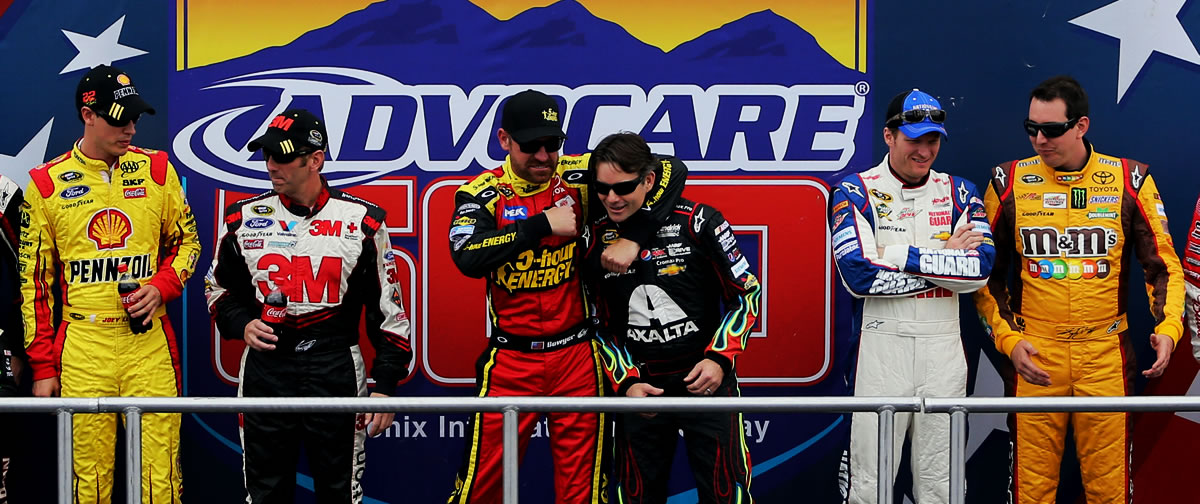 Clint Bowyer headlock Jeff Gordon Phoenix International Raceway